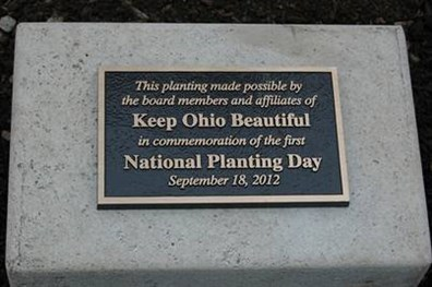 The Davey Nursery donated a redbud tree for Keep Ohio Beautiful's National Planting Day on Sept. 18.
