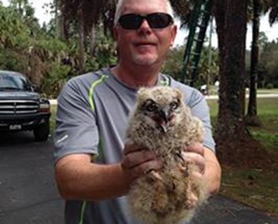 Thanks to Dan Powell, Davey's Naples, Florida, district manager, this owlet reunited with its mother.