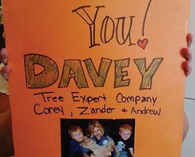 Why did Davey's Nanaimo tree services crew receive such a large thank you card? Read more to find out!