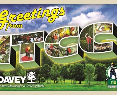 This giant postcard lured many Davey employees, their families and other ITCC attendees for several photo opportunities.