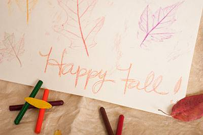 fall craft fall leaf rubbings