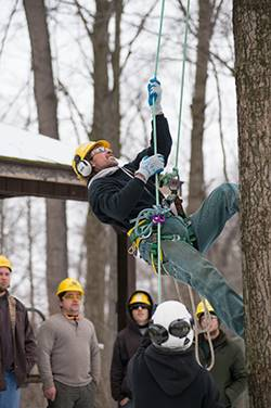 tree climbing demonstration