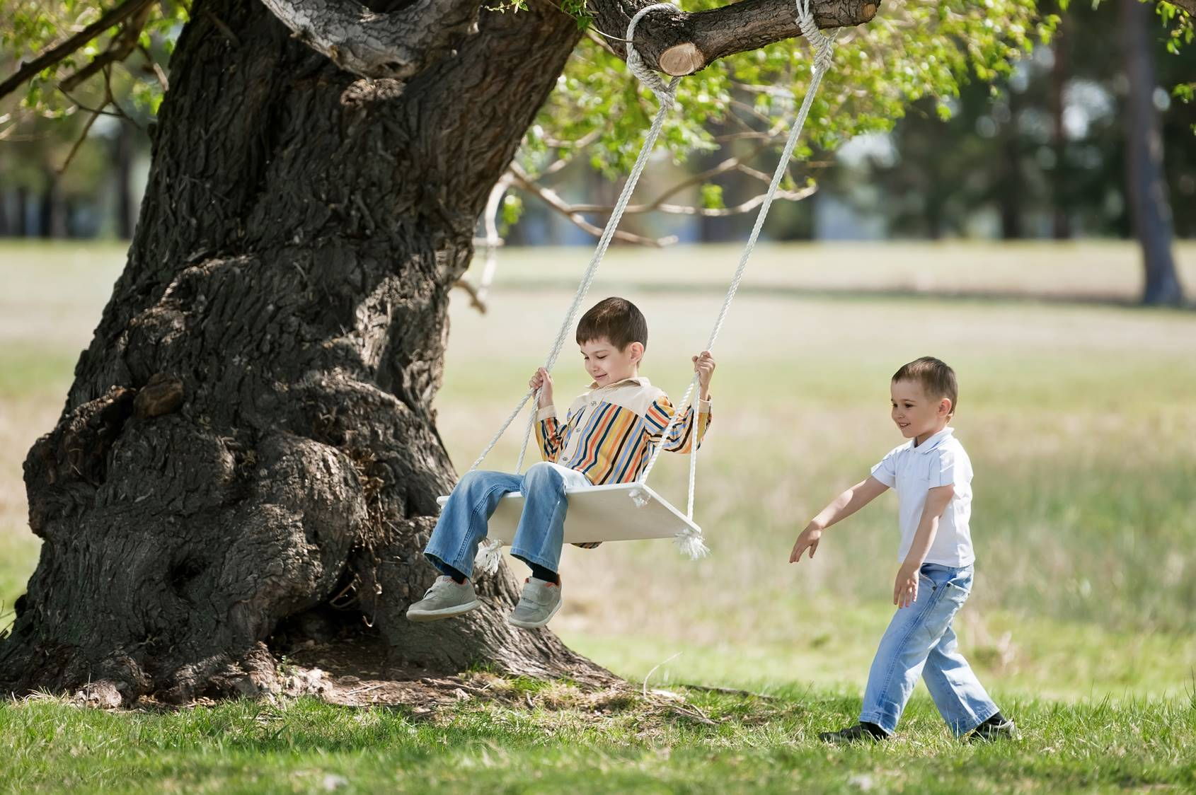 With you swinging under the oak tree
